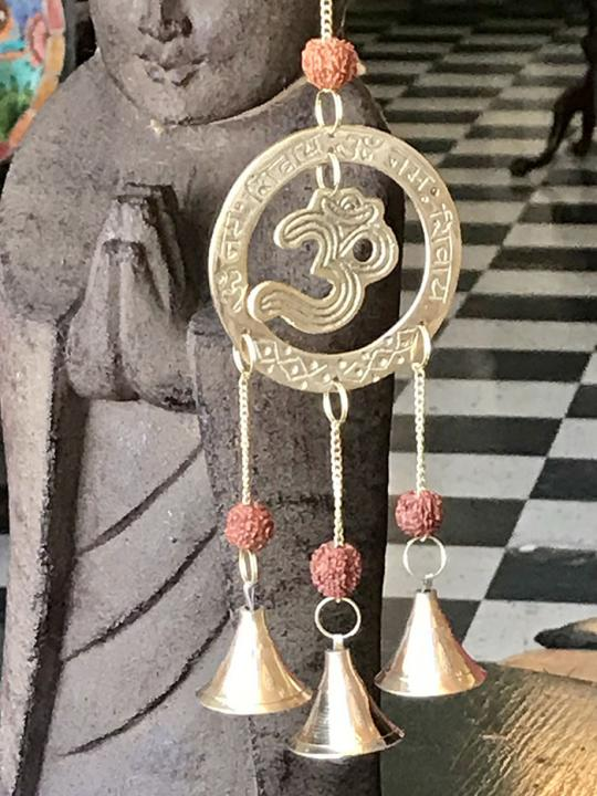 Brass Wind Chime with OM Symbol