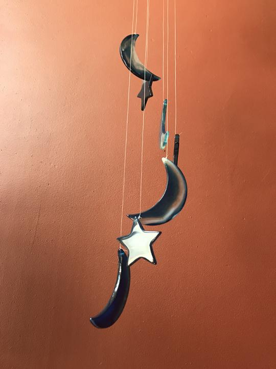 Stars and Moons Wind Chime (agate)